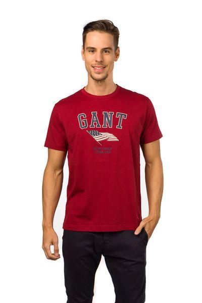 Gant příjemné pánské tričko XL červená