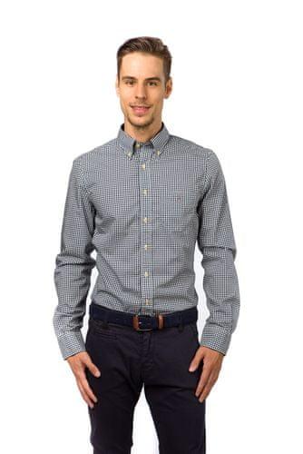 Gant pánská kostkovaná košile s kapsičkou M modrá  18725bc4bf