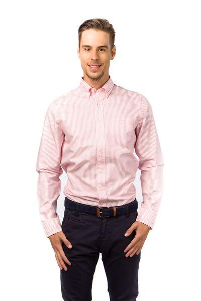 Gant pánská pruhovaná košile s kapsičkou XXXL růžová