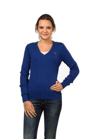 Gant pletený dámský svetr L modrá