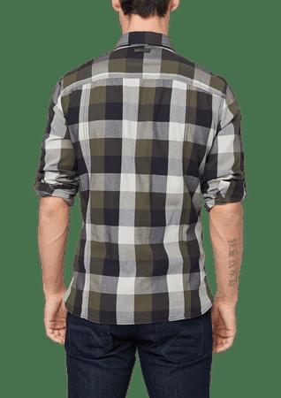 s.Oliver pánská kostkovaná košile S zelená  c279a31113