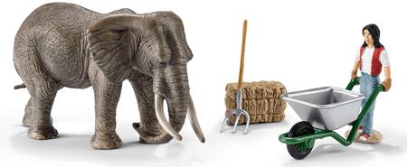 Schleich Wild Life: komplet slon in dodatki