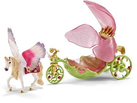 Schleich vilinska slavnostna kočija s konjem
