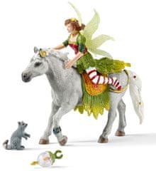 Schleich Víla Marween ve slavnostním oděvu na koni 70517