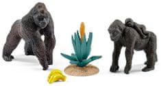 Schleich Svět přírody - gorilí rodinka s mládětem set