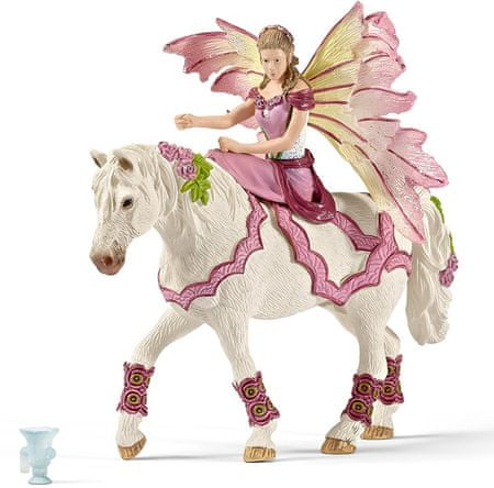 Schleich Víla Feya v slávnostnom odeve na koni