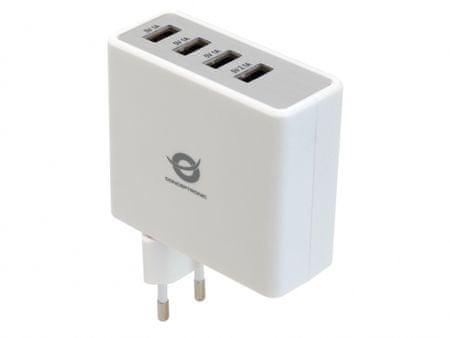 Conceptronic polnilec za 4 USB naprave 5.1A
