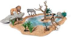 Schleich Zestaw afrykańskie zwierzęta i wodopój 42258