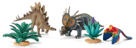 Schleich Hrací set s prehistorickými zvířaty a rostlinami 42260