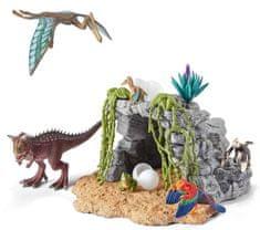 Schleich zestaw dinozaurów w jaskini