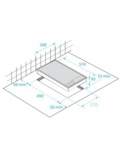 Beko kuhalna plošča Domino HDMC32400TX