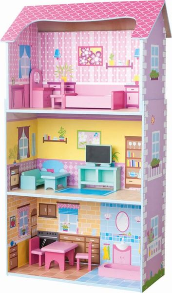 Woody Třípatrový barevný domeček
