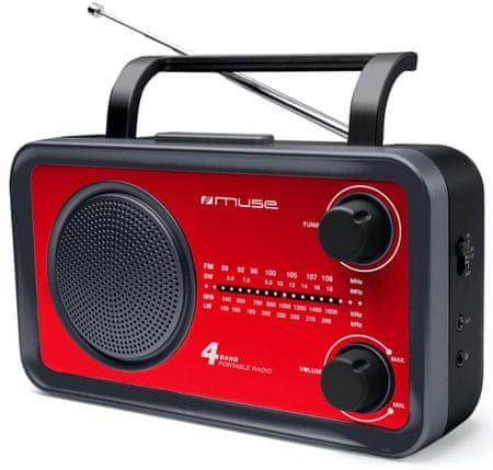 Muse M-05 Hordozható rádió, Piros