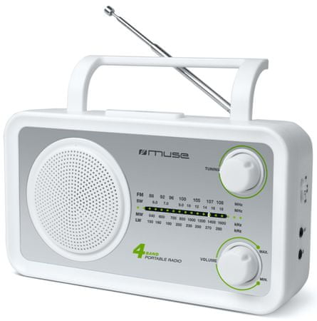 Muse M-05 Hordozható rádió, Fehér/szürke