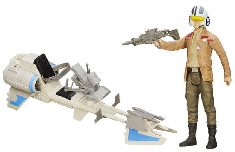 Star Wars Hrdinská figurka a vozidlo Speeder Bike