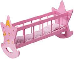 Eddy Toys Postýlka pro panenky, dřevěná