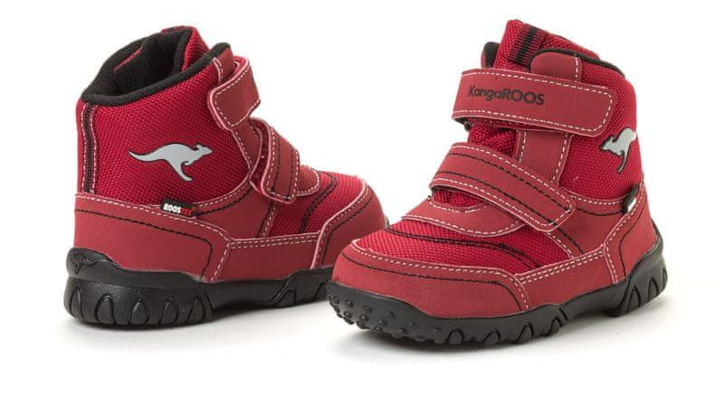 KangaROOS dětská kotníčková obuv Inscore 26 červená