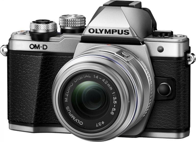 Olympus OM-D E-M10 Mark II Silver + 14-42 II R