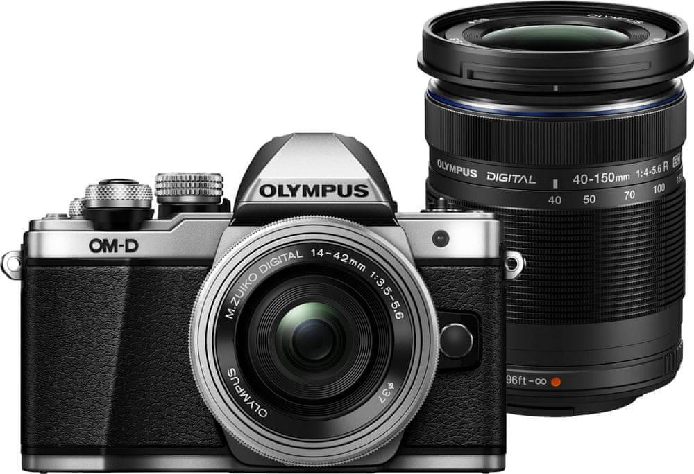 Olympus OM-D E-M10 Mark II + 14-42 mm EZ + 40-150 mm R Silver