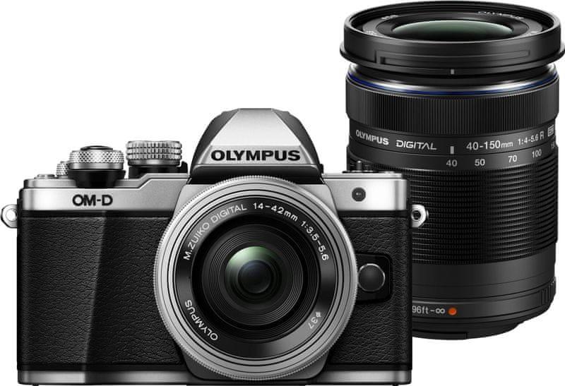 Olympus OM-D E-M10 Mark II + 14-42 mm EZ + 40-150 mm R Silver + 2000 Kč od Olympusu zpět!