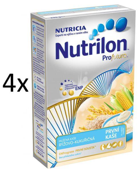 Nutrilon Mléčná kaše rýžovo-kukuřičná - 4 x 225g