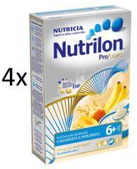 Nutrilon Mliečna kaša krupicová s banánom a marhuľou - 4 x 225g