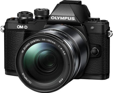 Olympus fotoaparat OM-D E-M10 Mark II + 14-150 II, črn
