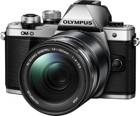 Olympus fotoaparat OM-D E-M10 Mark II + 14-150 II, srebrn