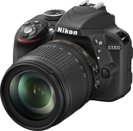 Nikon digitalni fotoaparat D3300 + 18-105 VR Črn