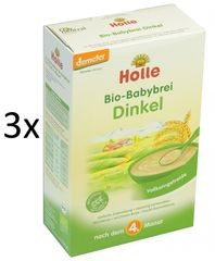 Holle Bio Špaldová bezmliečna kaša - 3 x 250g