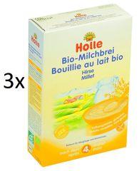 Holle Bio Pšenová mliečna kaša - 3 x 250g