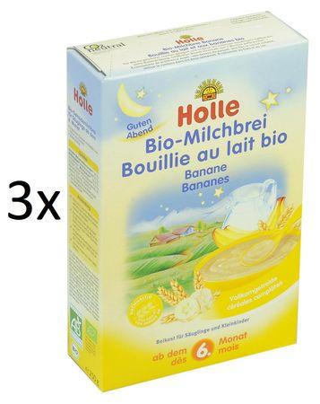 Holle Bio Banánová mliečna kaša - 3 x 250g