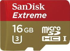 SanDisk micro SDHC 16 GB 90 MB/s Class 10 U3 UHS-I + Adapter (SDSQXNE-016G-GN6MA)