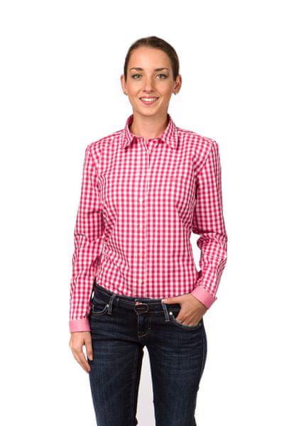 Gant dámská kostkovaná košile 34 růžová