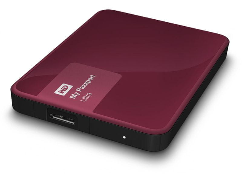 "WD My Passport Ultra 500GB / Externí / USB 3.0 / 2,5"" / Berry (WDBWWM5000ABY-EESN)"