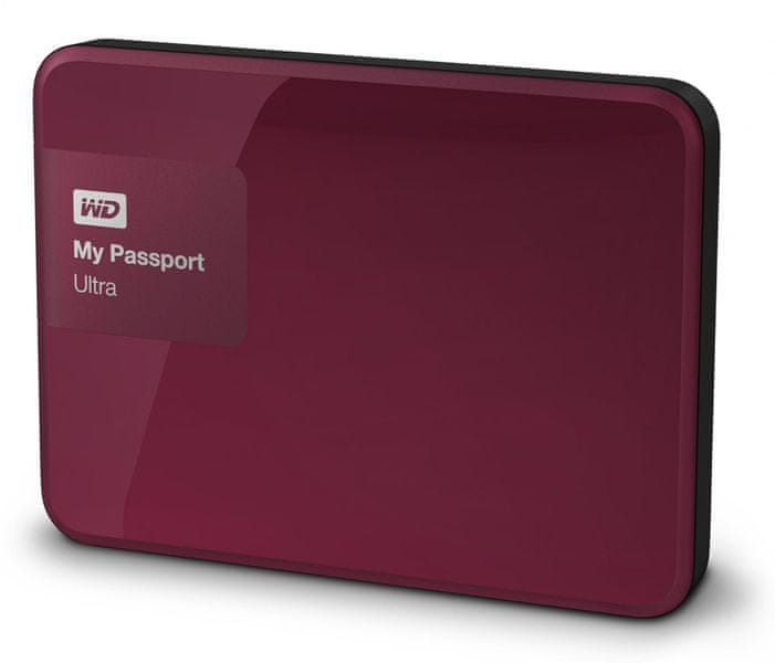 "WD My Passport Ultra 1TB / Externí / USB 3.0 / 2,5"" / Berry (WDBGPU0010BBY-EESN)"