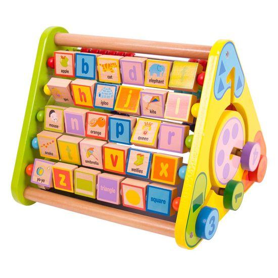 Bigjigs Toys Aktívny trojuholník s angličtinou