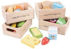 Bigjigs Toys Set zdravých potravín v štyroch krabičkách II.