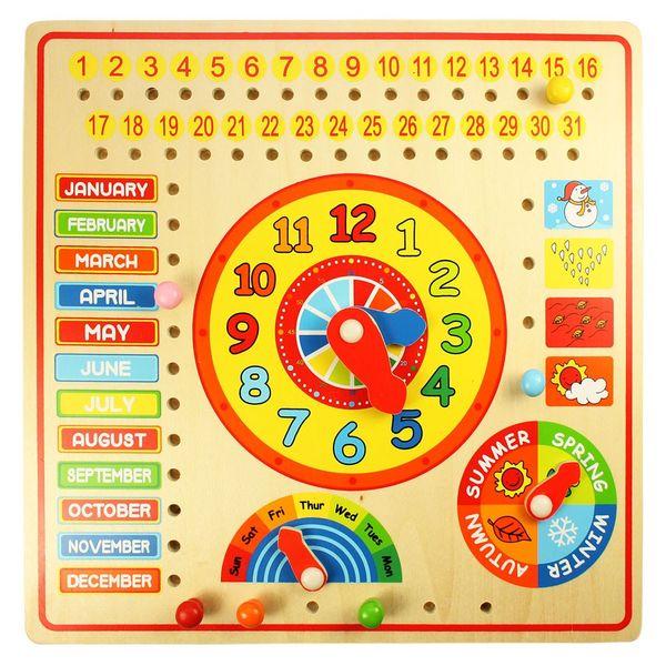 Bigjigs Toys Kalendář s hodinami s angličtinou