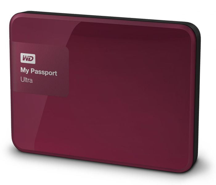"WD My Passport Ultra 3TB / Externí / USB 3.0 / 2,5"" / Berry (WDBBKD0030BBY-EESN)"