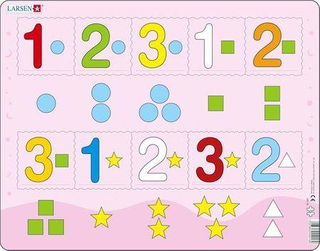 LARSEN Maxi puzzle 10 db-os Számok 1-3-ig AR16