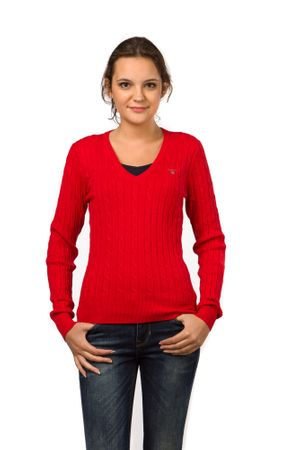 Gant pletený dámský svetr M červená