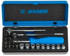 """Unior garnitura nasadnih ključeva 1/4"""" i nastavaka u metalnoj kutiji - 188E (613075)"""