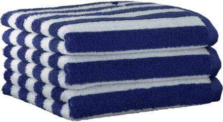 s.Oliver 3kosi brisače 3701 s trakovi, 50x100, modra