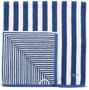 5 - s.Oliver 3kosi brisače 3701 s trakovi, 50x100, modra