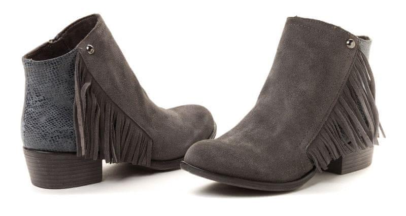s.Oliver dámská polokožená kotníčková obuv 41 šedá