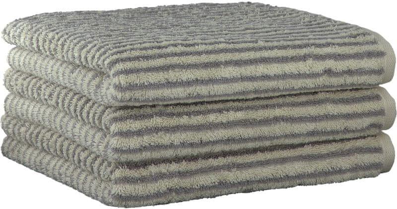 Cawö Frottier 3ks ručníky 50x100 cm, podélný proužek