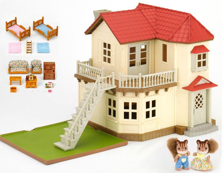 Sylvanian Families Set Městský dům se světly, nábytkem a postavičkami 3644