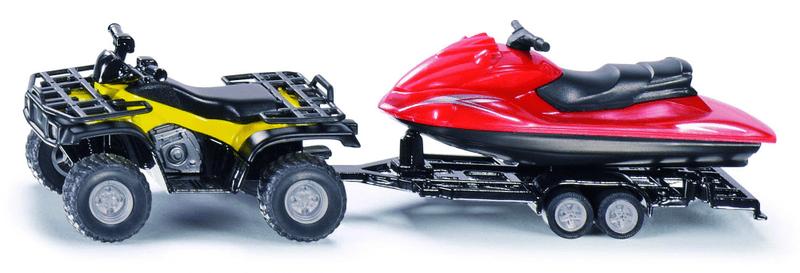 SIKU Super - Čtyřkolka s přívěsem a vodním skútrem 1:50