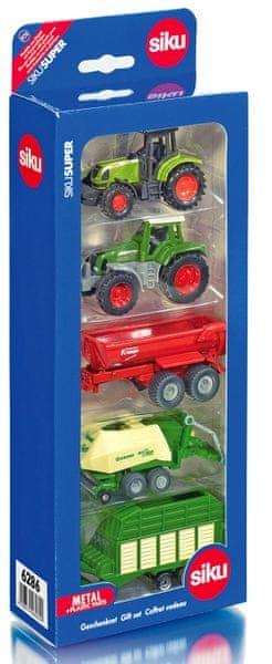 SIKU Sada aut - zemědělské stroje 5 ks